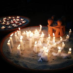 baptism church candles