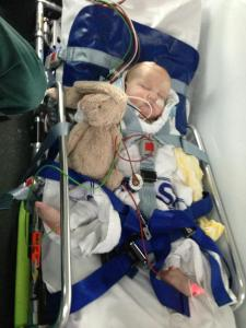 Bede's first ambulance ride.